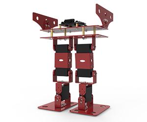 狭窄足双足竞步机器人
